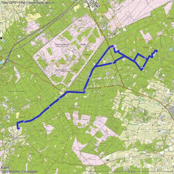 buitenrit Ossenstal Vierhouten GPSroute